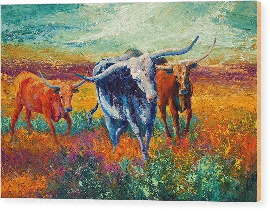 When The Cows Come Home Wood Print