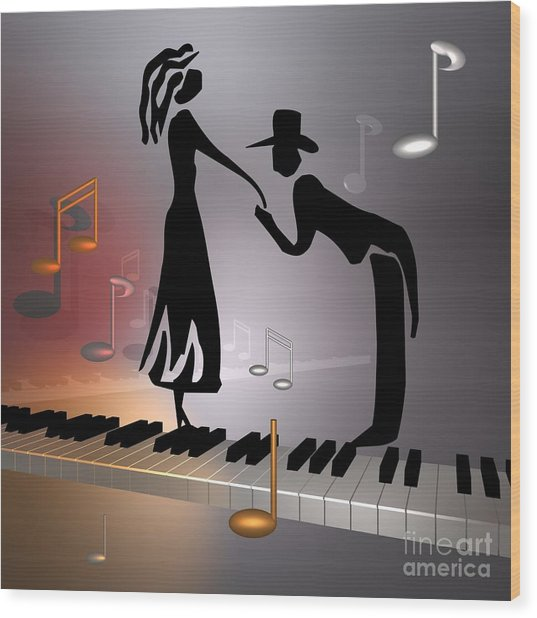 When The Music ... Wood Print