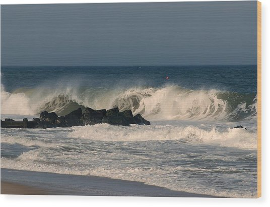 When The Ocean Speaks - Jersey Shore Wood Print