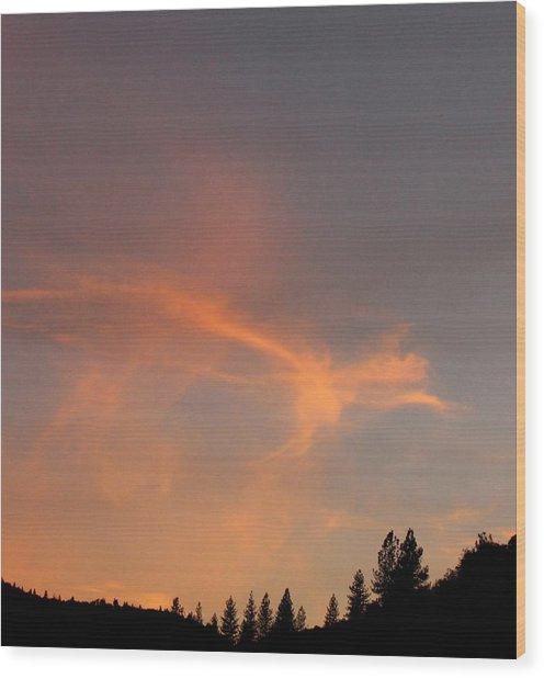 Where Angels Dance Wood Print