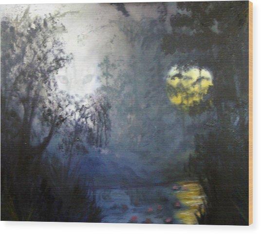 Where Are We To Go Wood Print by Darlene Green