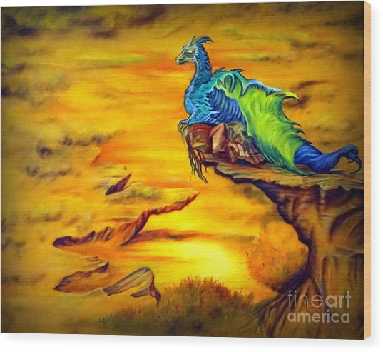 Dragons Valley Wood Print