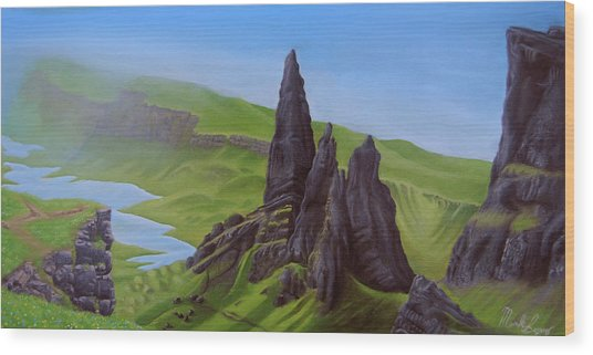 Where Giants Roam The Skye Wood Print