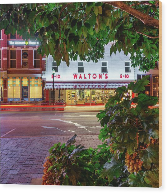 Where It All Began - Sam Walton's First Store - Bentonville Arkansas Wood Print