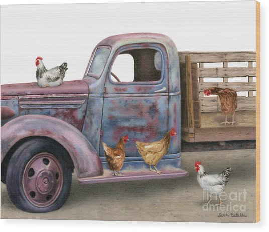The Flock Spot  Wood Print