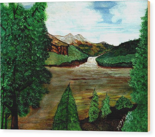 Where Water Meets Wood Print by Willie McNeal