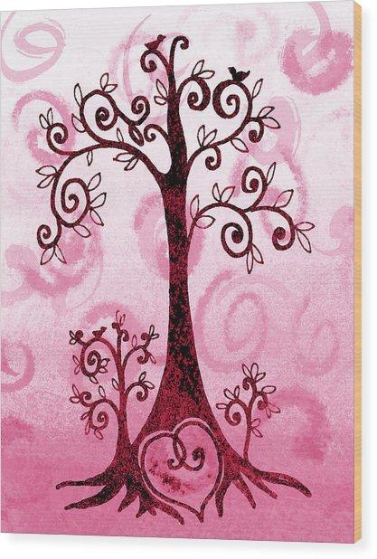 Whimsical Tree And Hidden Heart Wood Print