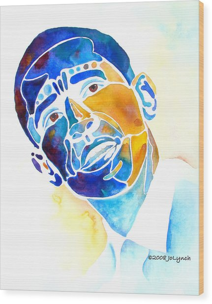 Whimzical Obama Wood Print