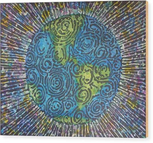Whirled Piece Wood Print