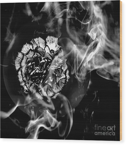 Whisper In The Dark Wood Print