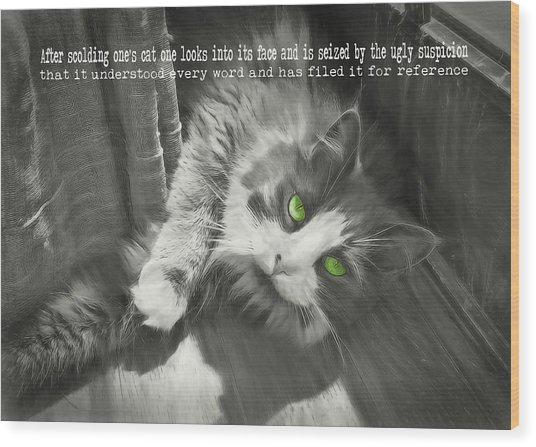 Whisper Quote Wood Print by JAMART Photography