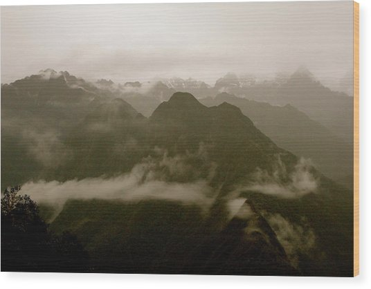 Whispers In The Andes Mountains Wood Print