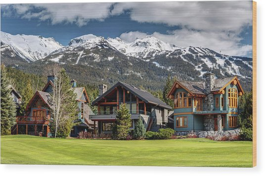 Wood Print featuring the photograph Whistler Luxury Homes On Nicklaus North  by Pierre Leclerc Photography