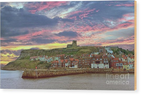 Whitby Abbey Uk Wood Print