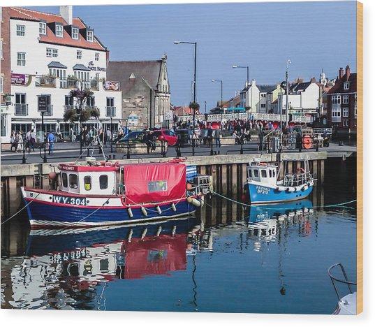 Whitby Harbor, United Kingdom Wood Print