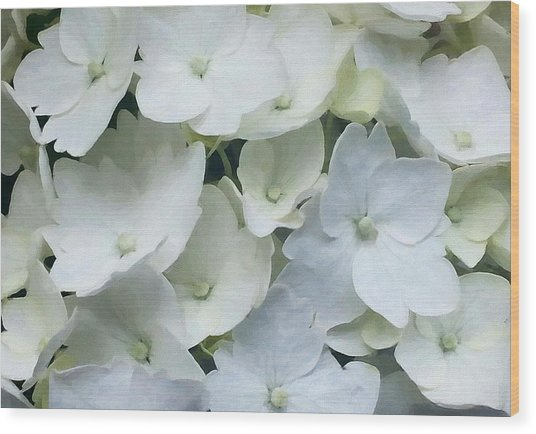 Wood Print featuring the digital art White Blossom by Julian Perry