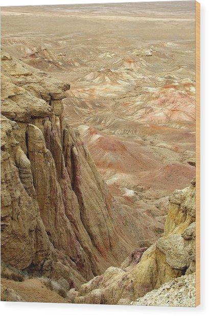 White Cliffs Of Gobi Desert Wood Print