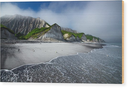 White Cliffs Of Iturup Island Wood Print