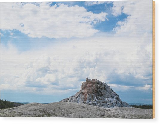 White Dome Geyser Wood Print