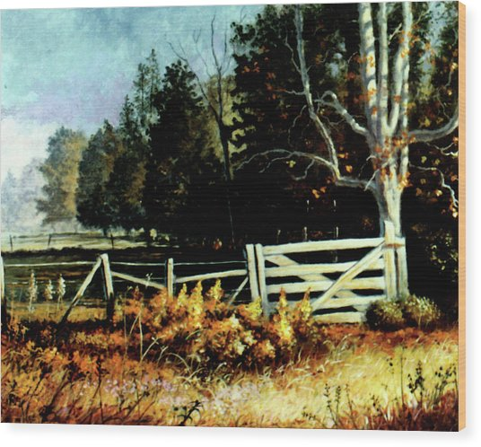 White Gate Wood Print