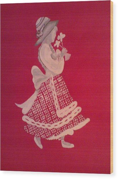 White Girl Wood Print by Samar Abdelmonem