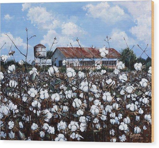 White Harvest Wood Print