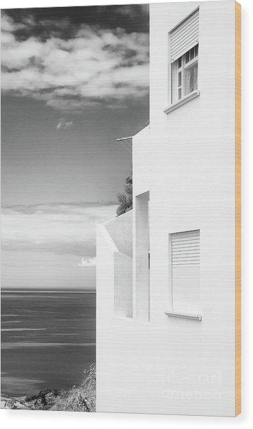 White House Ocean View Wood Print