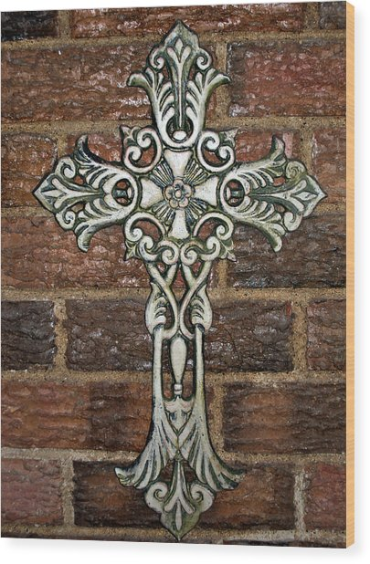 White Iron Cross 1 Wood Print