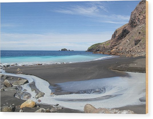 White Island In New Zealand Wood Print by Jessica Rose