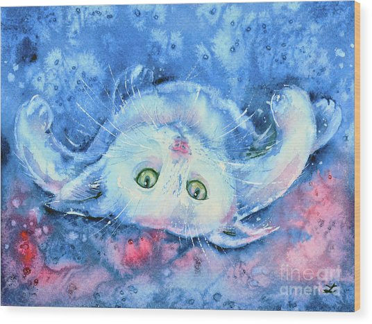 White Kitten  Wood Print