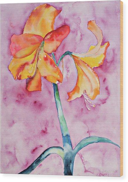 White Light Bloom Wood Print by Ruth Feldman