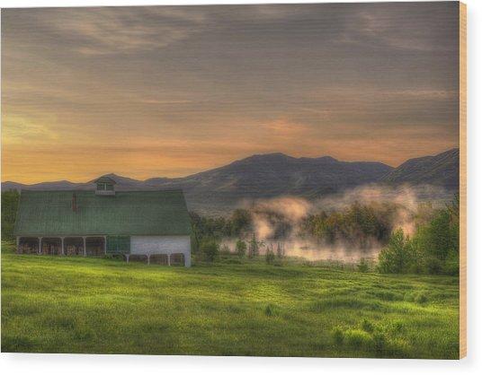 White Mountain Sunrise - New Hampshire Wood Print by Joann Vitali