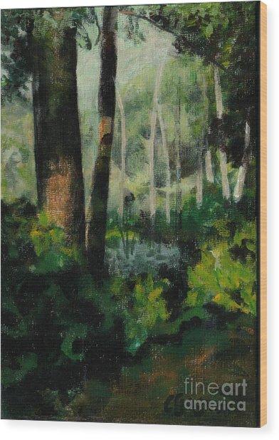 White Mountain Woods Wood Print