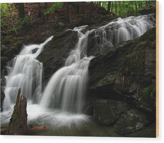 White Mountains Waterfall Wood Print by Juergen Roth