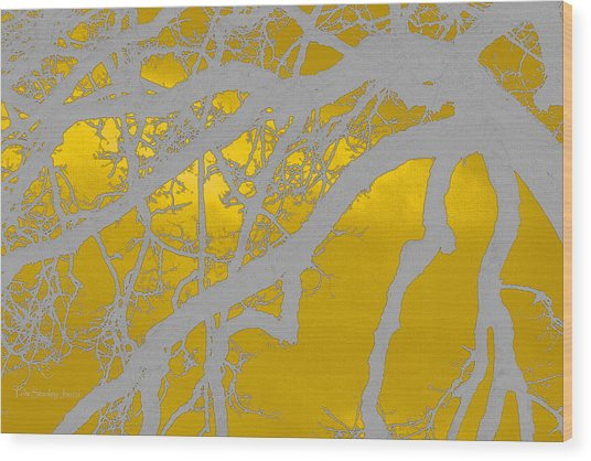 White Oak -yellow Orange Wood Print