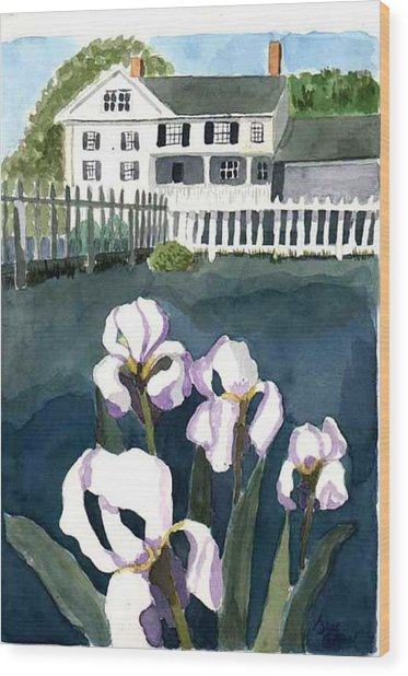 Wood Print featuring the painting White On White by Jane Croteau