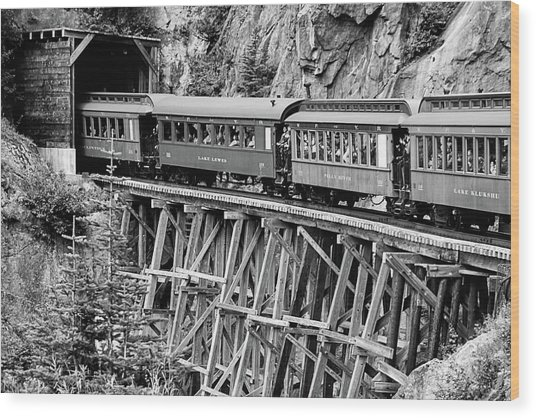 White Pass Railway Wood Print