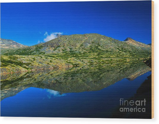 White Pass Reflections Wood Print by Scott and Amanda Anderson