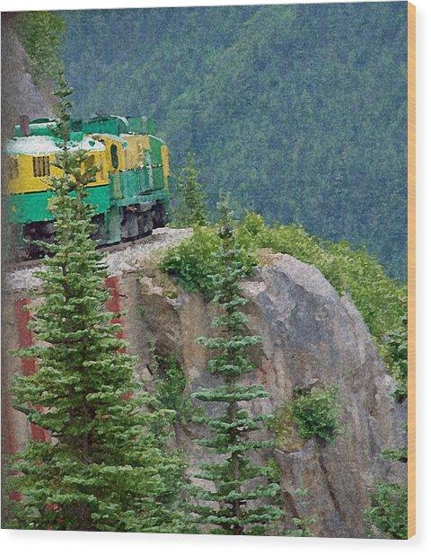 White Pass Train Alaska - Canada Wood Print