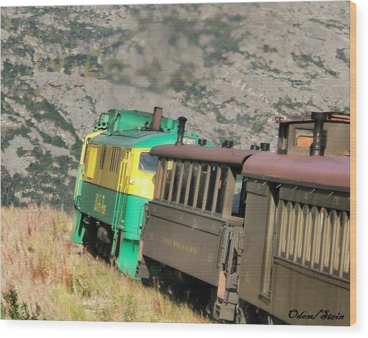 White Pass Yukon Route Railroad Wood Print by Dennis Stein