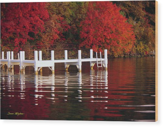 White Pier - Lake Geneva Wisconsin Wood Print