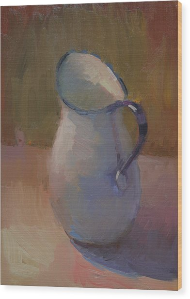 White Pitcher Wood Print by Kathryn Townsend