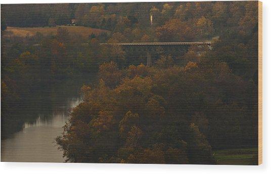 White River Foliage Wood Print