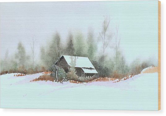 White Roof Wood Print by William Renzulli