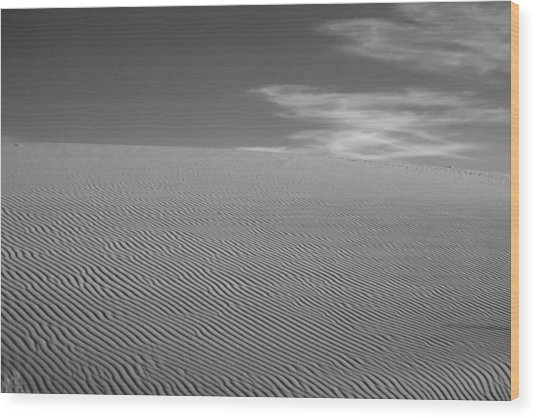 White Sands Dune Wood Print by Peter Tellone