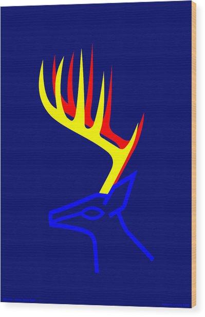 White Taled Deer Wood Print by Asbjorn Lonvig
