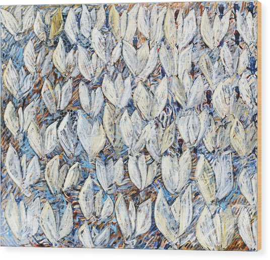 White Tulips Wood Print by Joan De Bot