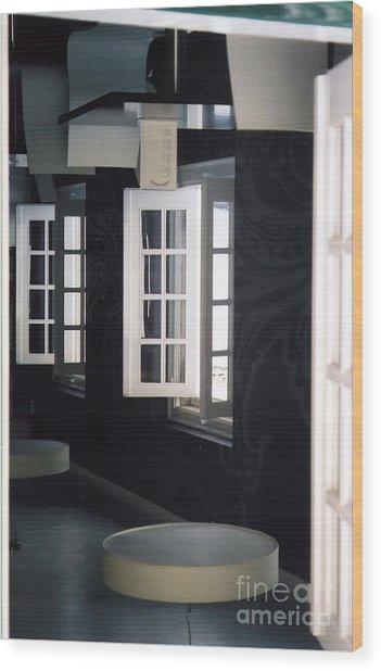 White Windows Wood Print by Andrea Simon