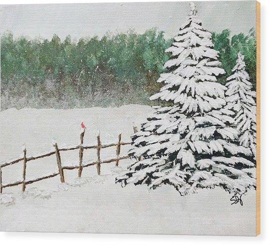 White Winter Wood Print by Sheri Doyon