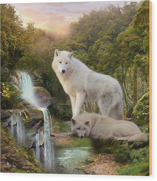 White Wolf Falls2 Wood Print